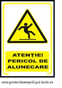 pericol de alunecare